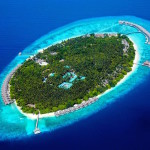 Aerial view, Dusit Thani Maldives