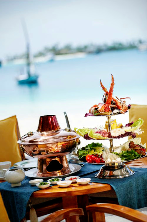 Contemporary Chinese cuisine by Jereme Leung brings you delicious Hot Pot on the beaches of Conrad Maldives Rangali Island, Ufaa
