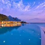 Infinity pool at Dusit Thani Maldives
