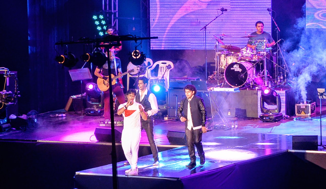 Salim - Sulaiman perfoming at National Football Stadium on New Year's Eve.