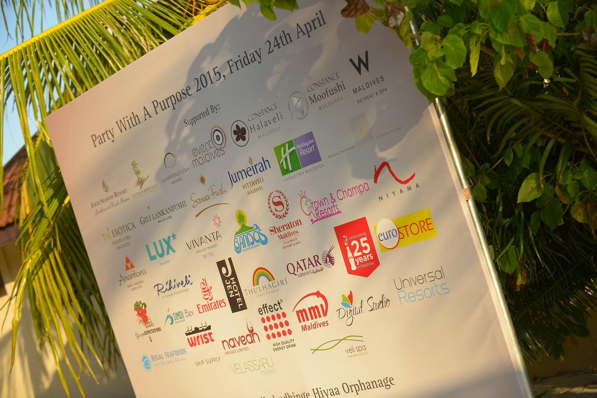 Sponsors for Party with a Purpose