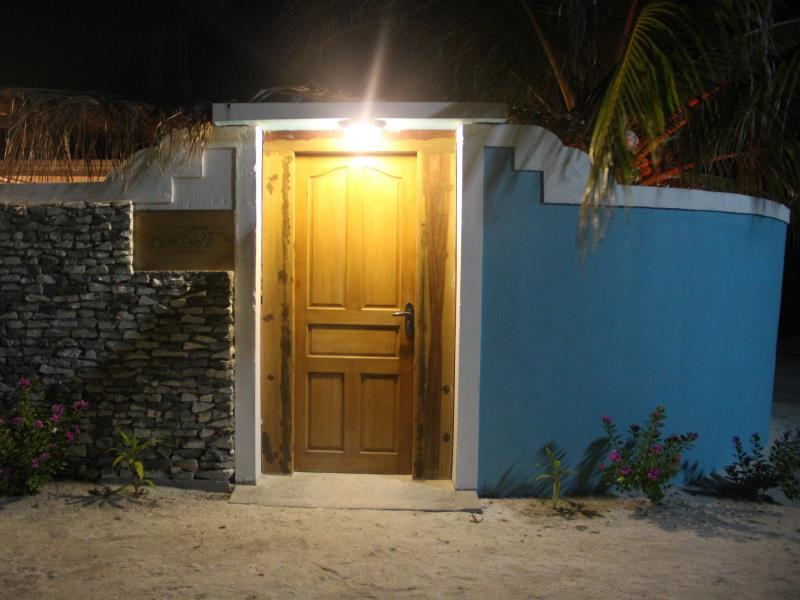 From outside at night - Cokes Beach House