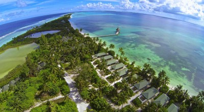 Aerial view, Herathera Island Resort