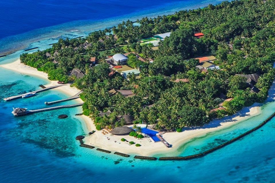 Aerial view, Kuramathi Island Resort