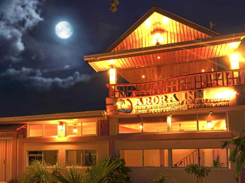 Arora Inn from Outside at night