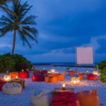 Kuramathi Maldives, sand bar Movie night