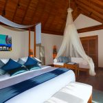 Sunrise/Sunset Over Water Suite bedroom, Anantara Dhigu Resort & Spa