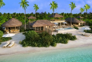 Two-Bedroom Ocean Beach Villa with Pool, Six Senses Laamu