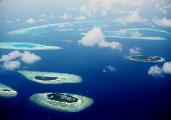 maldives from above