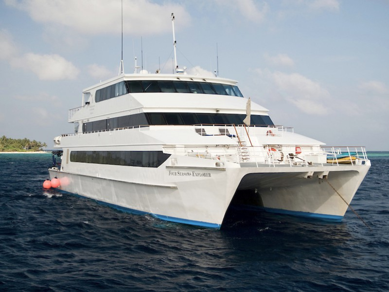 The Four Seasons vessel the Explorer, Maldives.