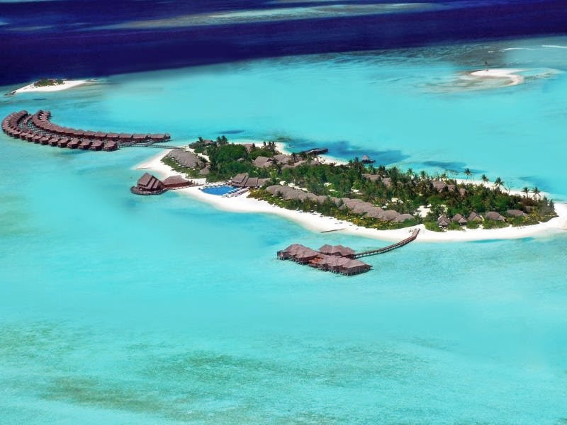 Aerial view, Anantara Veli Resort & Spa