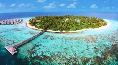 Aerial view, Outrigger Konotta Maldives Resort