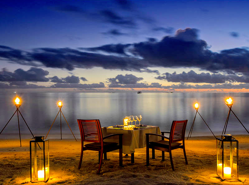 Private Beach Dinner, Baros Maldives