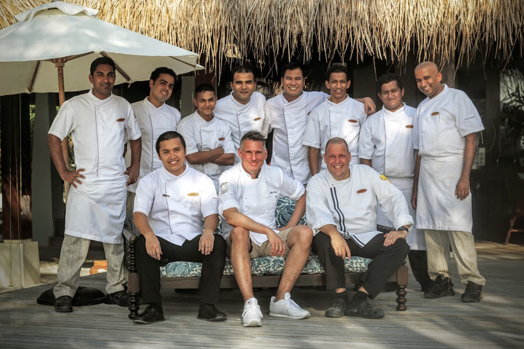 Two-Star Michelin Chef Heiko Nieder with the Chefs of Naladhu Maldives