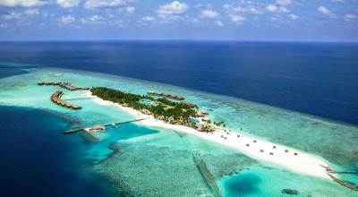 Aerial, Veligandu Island Resort & Spa