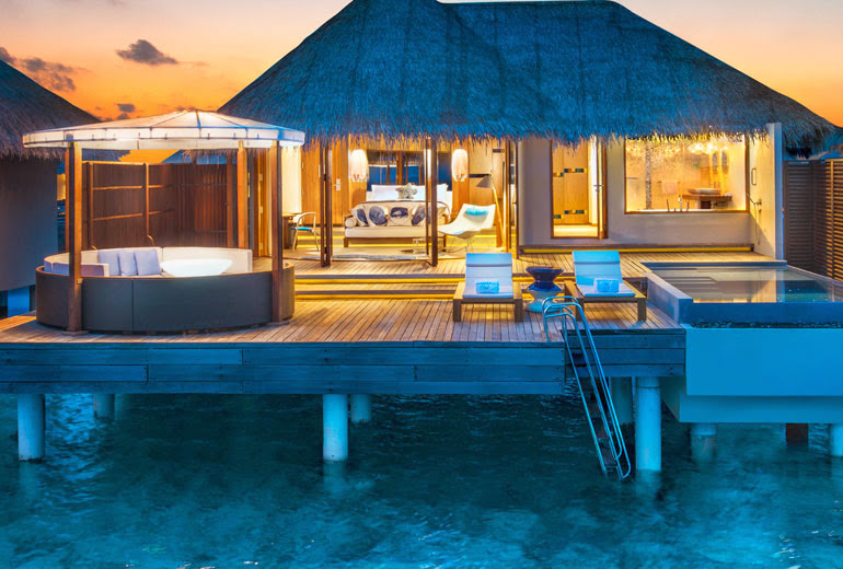 Fabulous Lagoon Oasis Bathroom, W Retreat & Spa Maldives