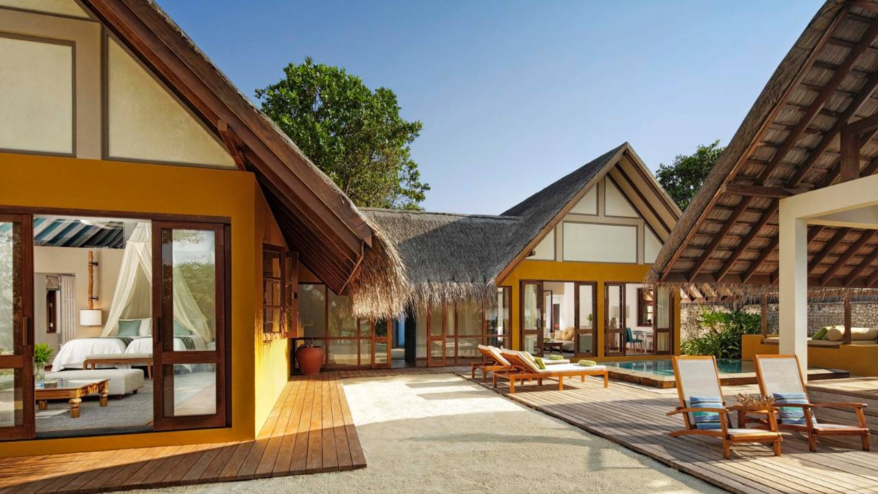 Two Bedroom Family Beach Bungalow With Pool Four Seasons Resort Maldives At Landaa Giraavaru