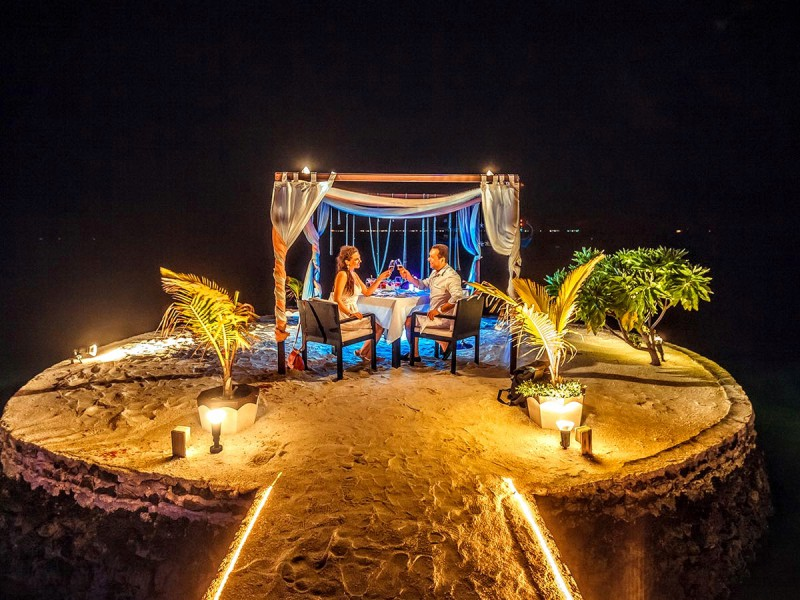 Wedding Renewal Of Vows Blessing Private Beach Dining Lily Resort