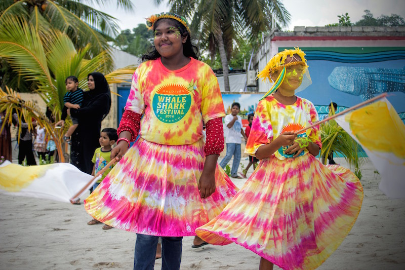 Dhidhoo Performers in preparation for the Festival Procession for MWSFEST14