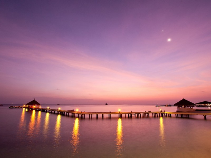 Night, Eriyadu Maldives Island