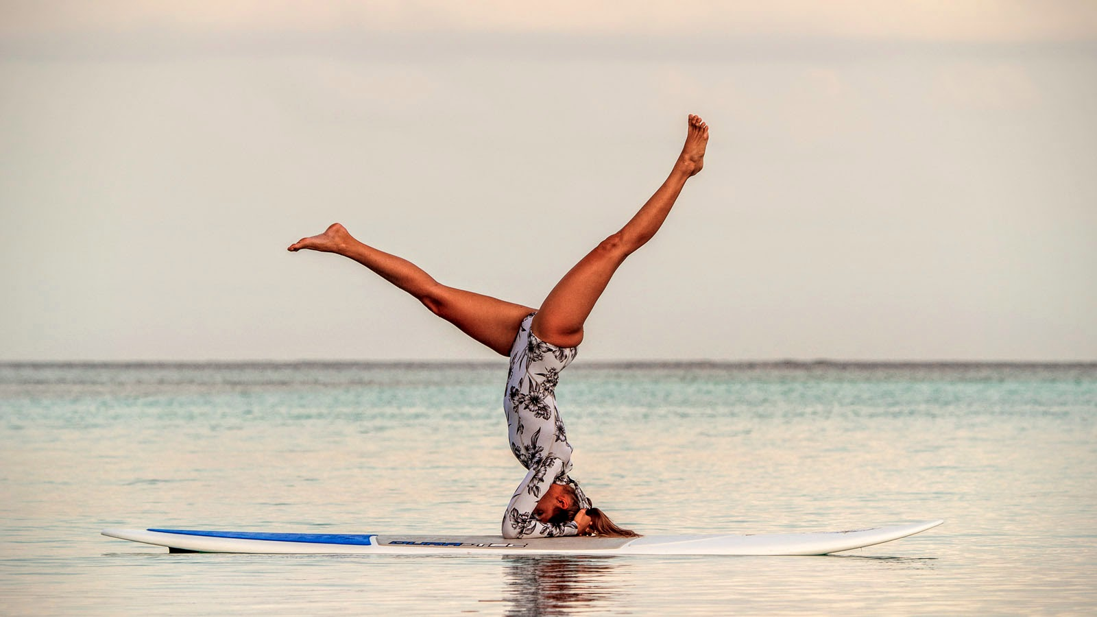 Kat Harding, SUP Yoga, Four Seasons Resort Maldives at Kuda Huraa