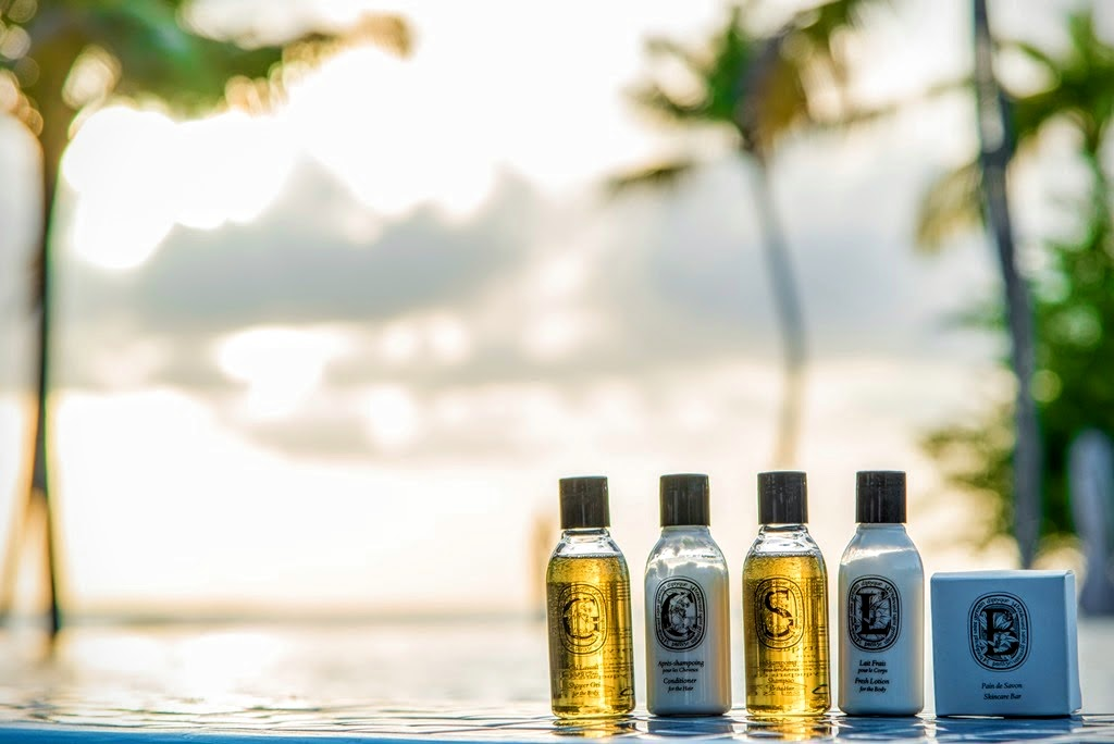 Diptyque toiletries, Hideaway Beach Resort & Spa