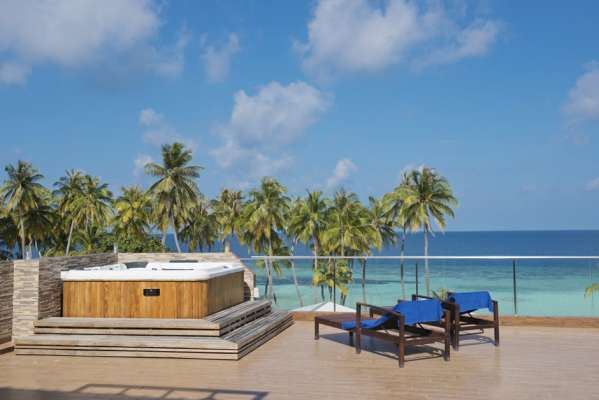 View from terrace, Arena Beach Maldives