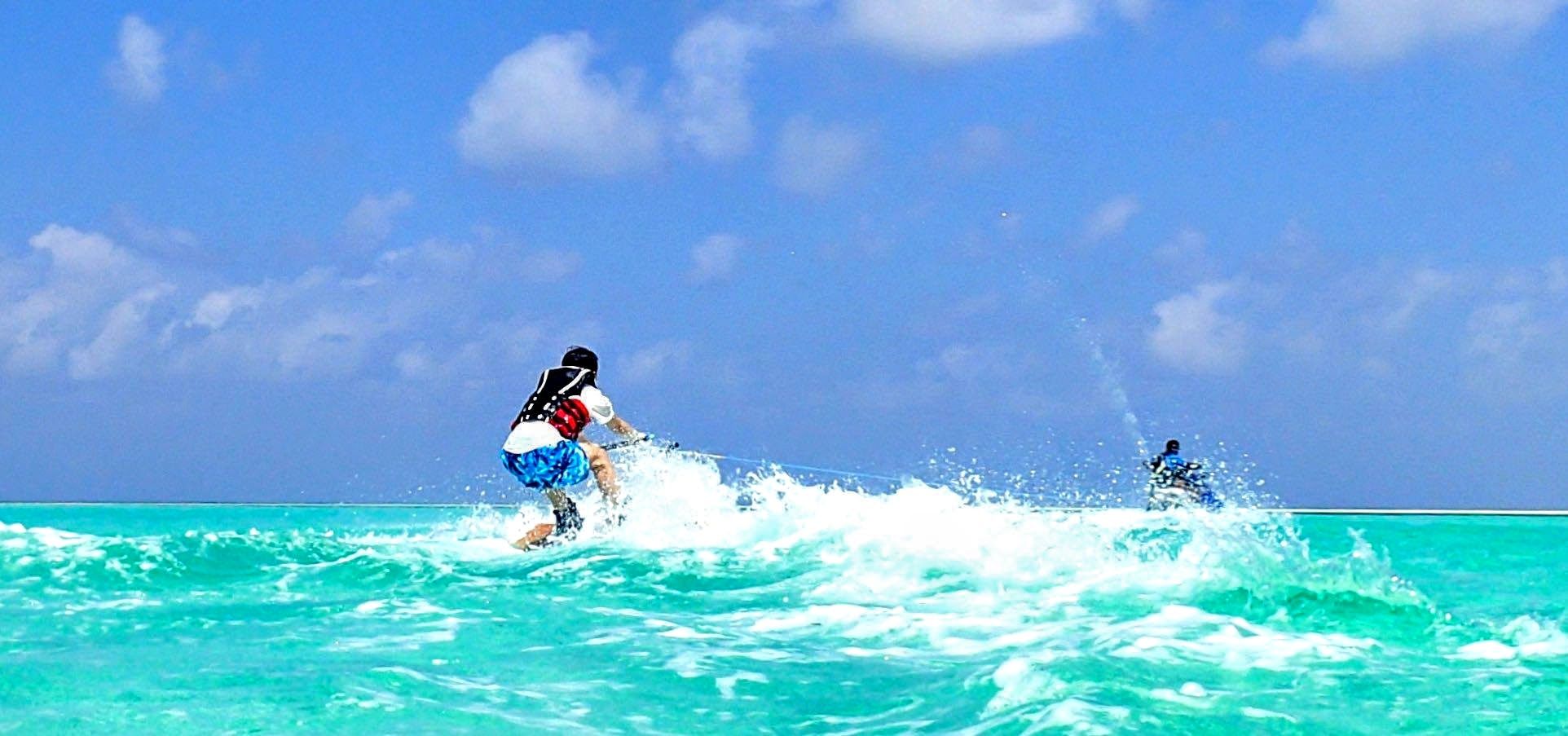 Mutteyfushi Island, Water Sports. Park Hyatt Maldives Hadahaa