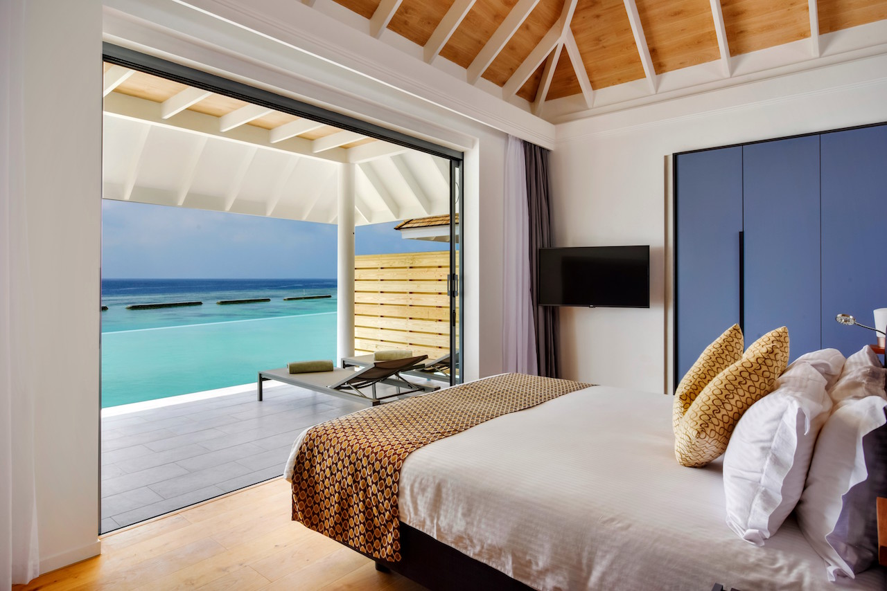 New beginnings at kuramathi island resort for Two bedroom house