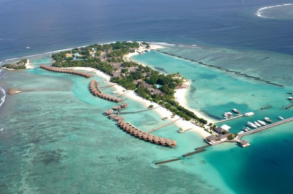 Aerial view, Sheraton Maldives Full Moon Resort & Spa