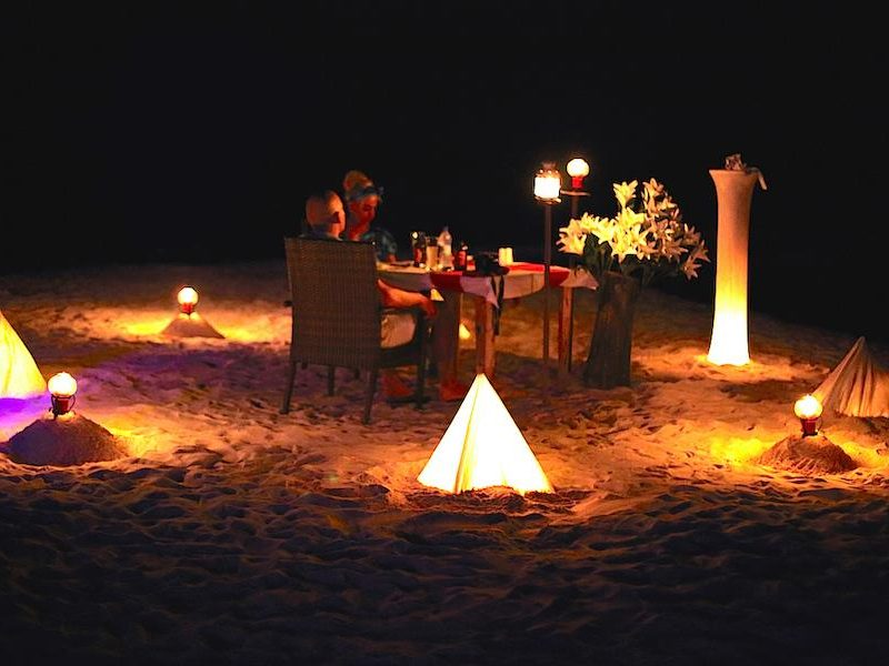 Romantic Candle Light Dining, Kaani Beach Hotel