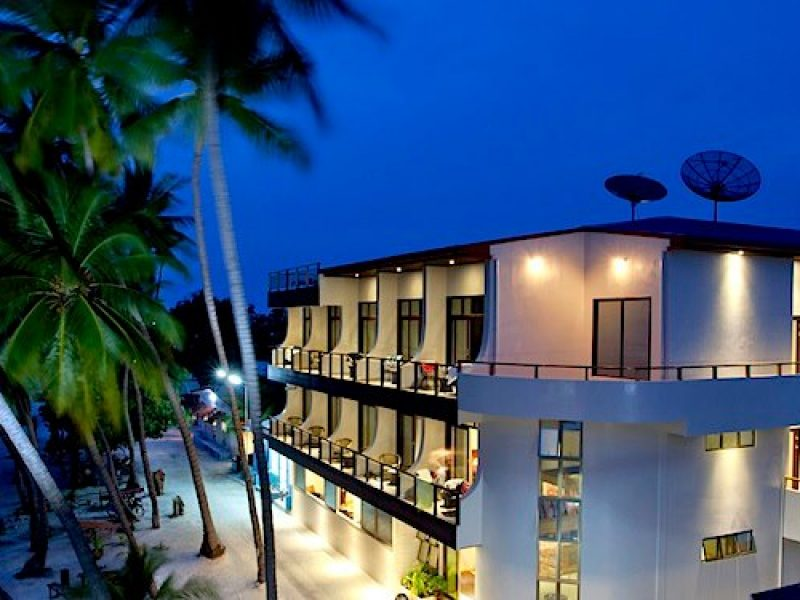 Night time, Kaani Beach Hotel