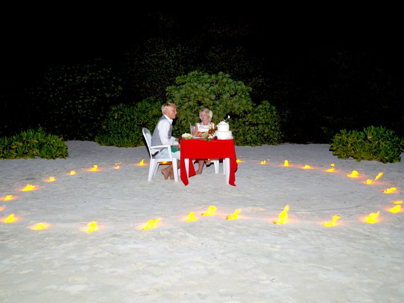 Ceremonial wedding dinner, Arena Lodge Maldives