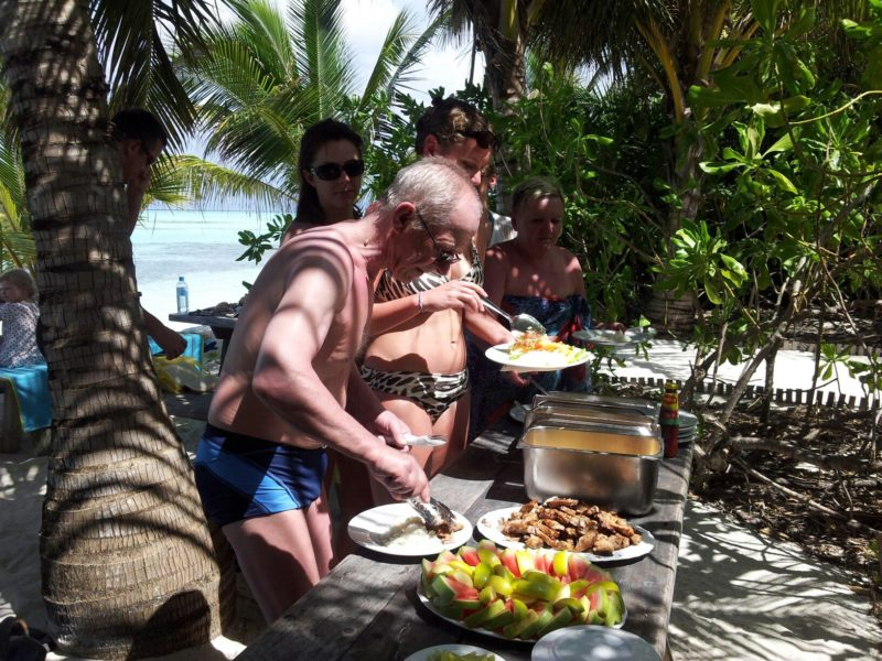 Lunch at picnic island, Arena Lodge Maldives