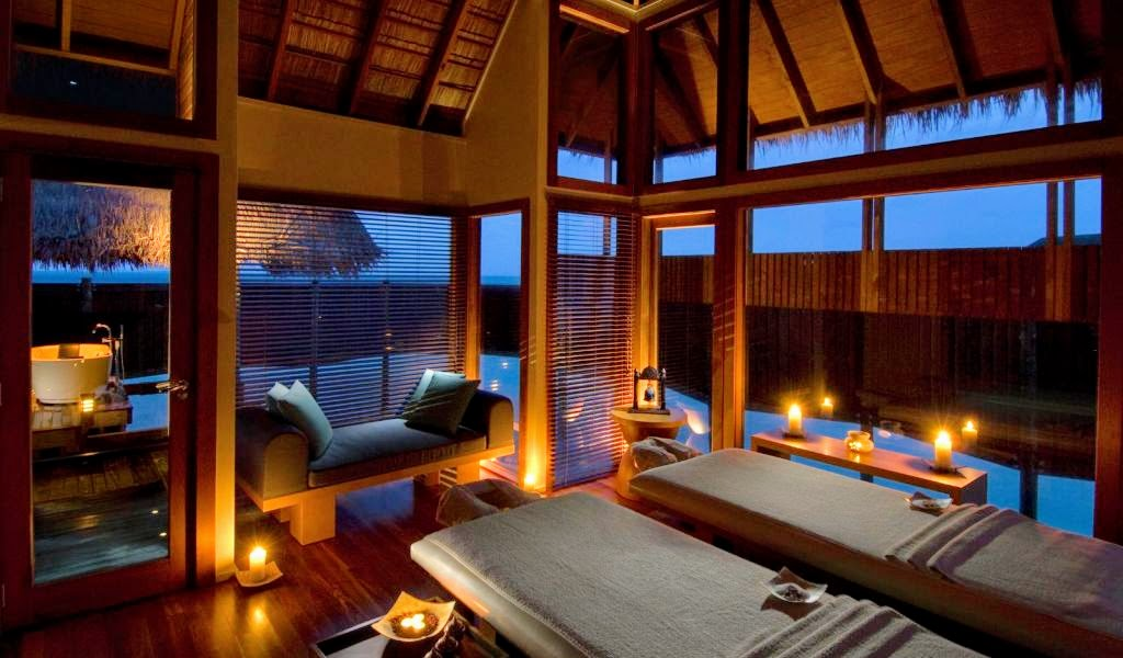 Double treatment room at The Spa Retreat, Conrad Maldives Rangali Island