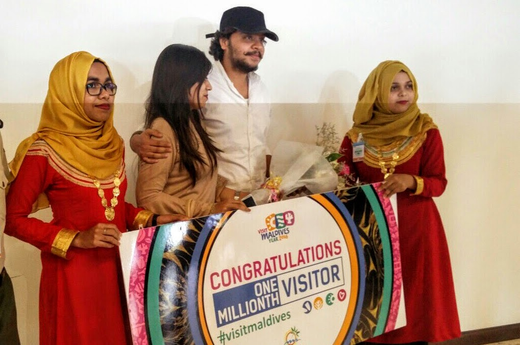1,000,000th Visitor of Visit Maldives Year 2016