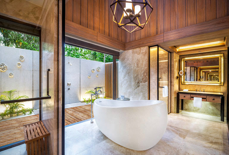 Beach Villa with Pool Bathroom, The St. Regis Maldives Vommuli Resort