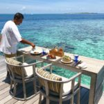 hurawalhi maldives, lunch with a sea view