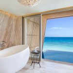 The St. Regis Maldives Vommuli Resort, family villa bathroom