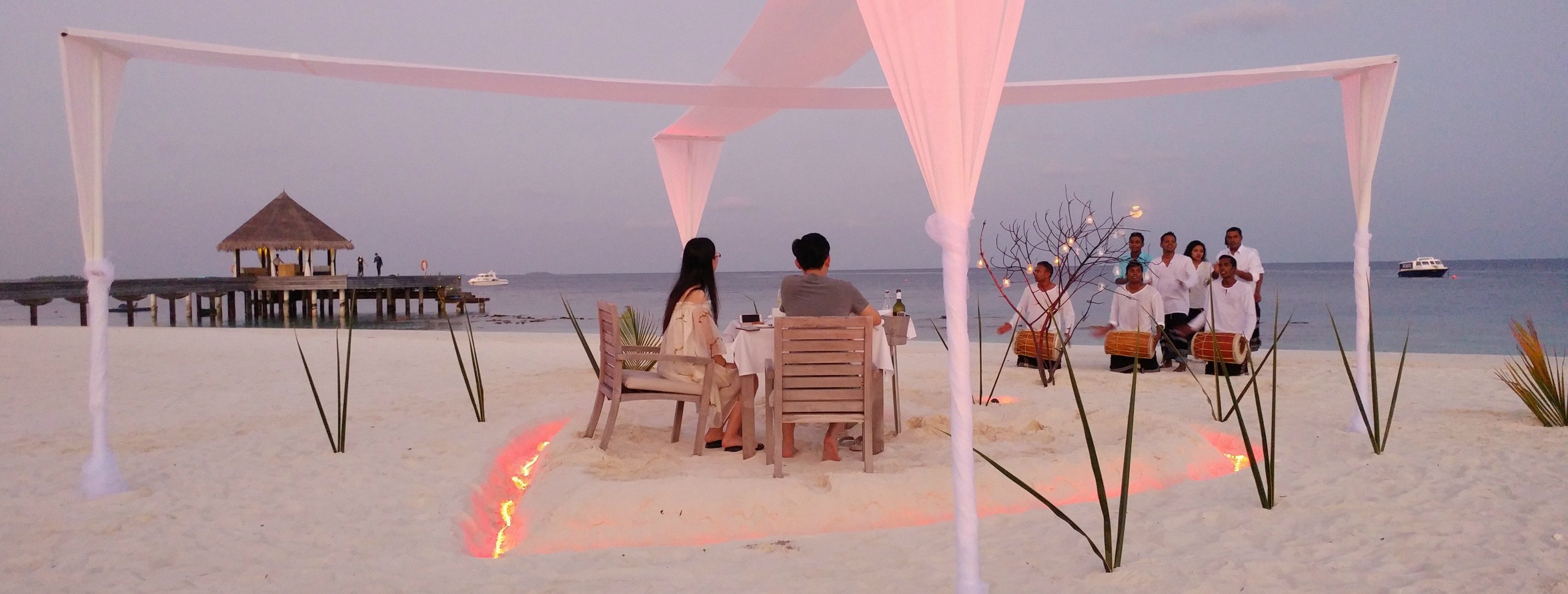 Outrigger Maldives Valentine dinner
