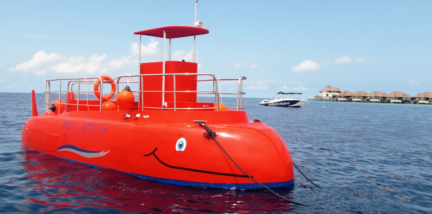 The semi-submersible submarine gets guests up close to the underwater world of the Maldives