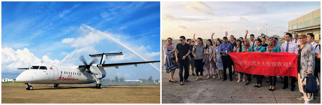 Maldivian welcomes its inaugural flight from Hangzhou