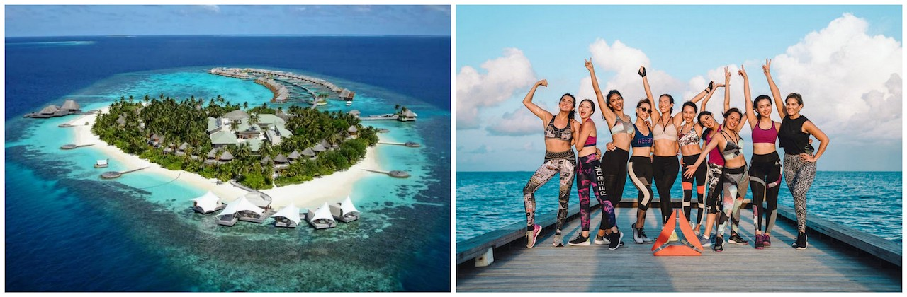 Reebok PerfectNever campaign, W Maldives